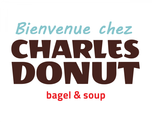 Bienvenue chez Charles Donut fond blanc